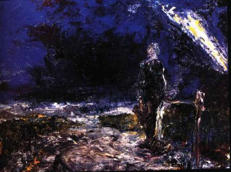 Jack B Yeats painting, The Sea and the Lighthouse on reclaimthesea.com